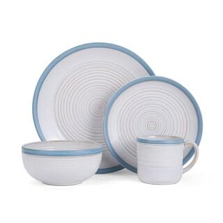 Pfaltzgraff Carmen White/Blue Stoneware 16-piece Dinnerware Set