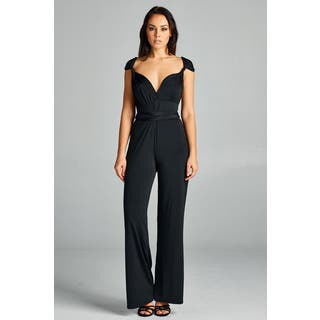Spicy Mix Women's Rayna Convertible Strap Wrap Halter Jumpsuit|https://ak1.ostkcdn.com/images/products/14768025/P21291418.jpg?impolicy=medium