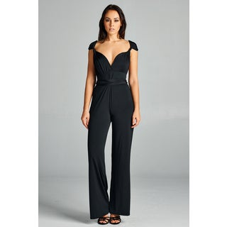Spicy Mix Women's Rayna Convertible Strap Wrap Halter Jumpsuit