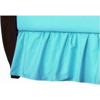 American Baby Company Aqua Cotton Percale Solid Crib Dust Ruffle