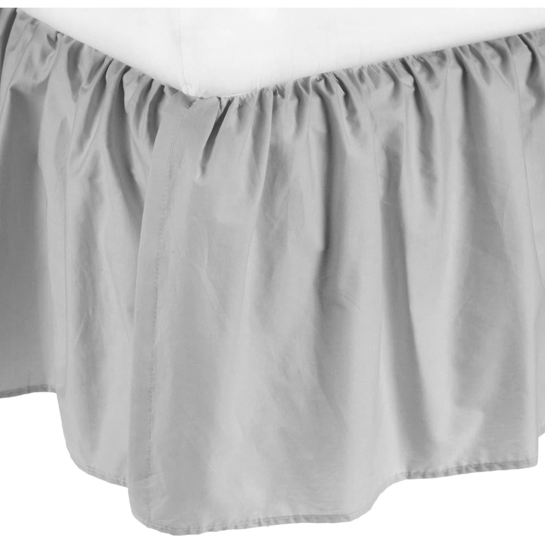 American Baby Porta Mini Grey Cotton Percale Solid Crib D...