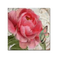 Color Bakery 'Apricot Peonies II' Canvas Art - Pink