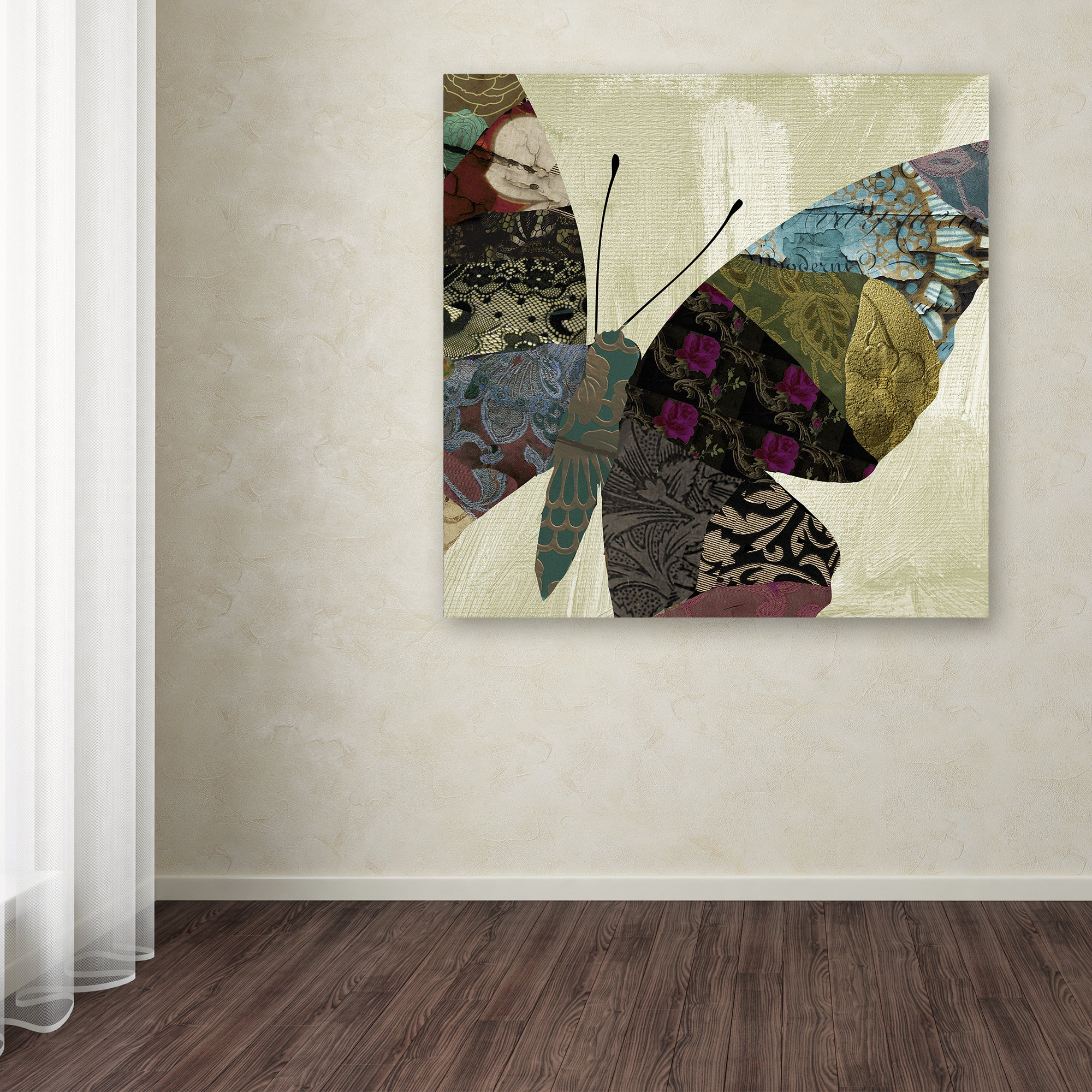 Color Bakery Butterfly Brocade Iv Canvas Art Overstock 14768127