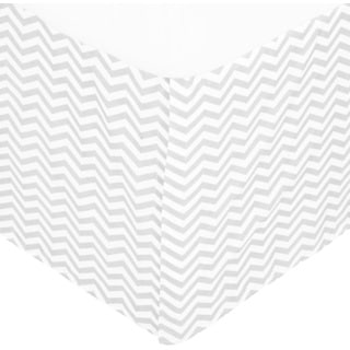 American Baby Company Grey Cotton Zigzag Pleated Percale Crib Skirt
