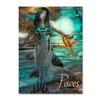 Color Bakery 'Art Nouveau Zodiac Pisces' Canvas Art