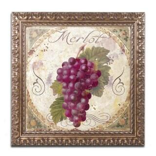 Color Bakery 'Tuscany Table Merlot' Ornate Framed Art