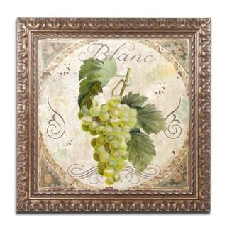 Color Bakery 'Tuscany Table Blanc' Ornate Framed Art
