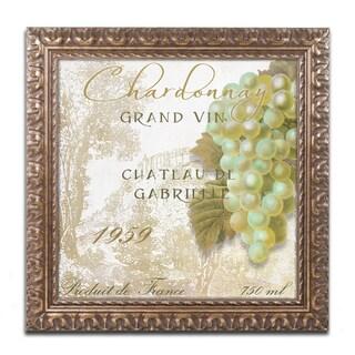 Color Bakery 'Grand Vin Chardonnay' Ornate Framed Art