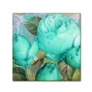 Color Bakery 'Aqua Rose II' Canvas Art