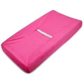 American Baby Company 'Heavenly Soft' Fuchsia Chenille Fitted Contoured Changing Pad Cover