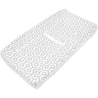 American Baby Company Grey Honeycomb Heavenly Soft Chenille Fitted Contoured Changing Pad Cover