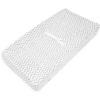 American Baby Company Grey Zigzag Heavenly Soft Chenille Fitted Contoured Changing Pad Cover