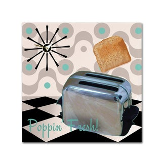 Color Bakery 'Fifties Kitchen I' Canvas Art - Silver