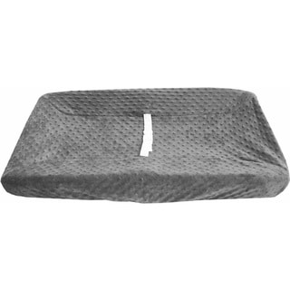 American Baby Company Heavenly Soft Grey Cotton Minky Dot Changing Pad Cover