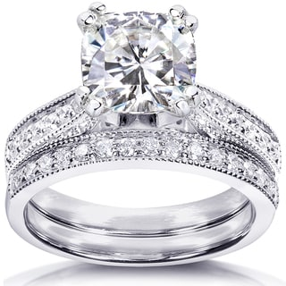 Annello By Kobelli 14k White Gold 2 1/3ct TGW Moissanite (HI) And
