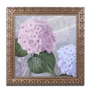 Color Bakery 'Hortensia 2' Ornate Framed Art