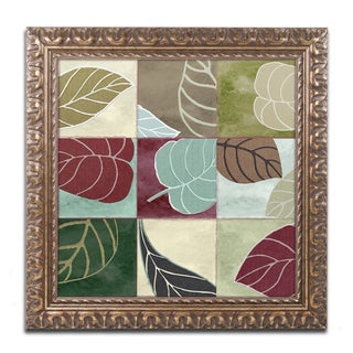 Color Bakery 'Leaf Story III' Ornate Framed Art