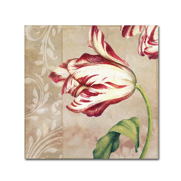 Color Bakery 'Peppermint Tulips II' Canvas Art