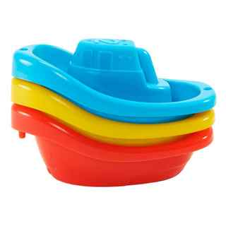 Munchkin Little Boat Train Multicolor Bath Toys (Pack of 3)