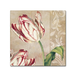 Color Bakery 'Peppermint Tulips I' Canvas Art