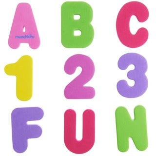 Munchkin Pastel Learn Bath 36-piece Letters and Numbers Set