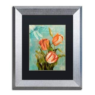 Color Bakery 'Tulips Ablaze III' Matted Framed Art