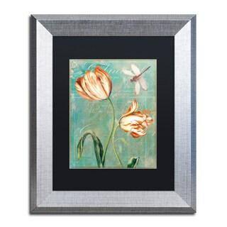 Color Bakery 'Tulips Ablaze I' Matted Framed Art