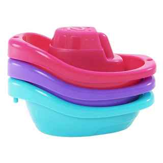 Munchkin Girl Little Boat Train Bath Toy (3 Pack)