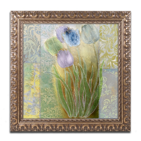 Color Bakery 'Emily II' Ornate Framed Art
