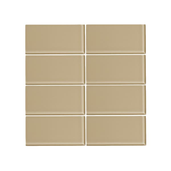 Vicci Design Toasted Almond Gl 3 X 6 Subway Tile