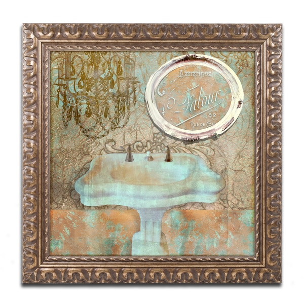 Color Bakery 'Salle de Bain III' Ornate Framed Art