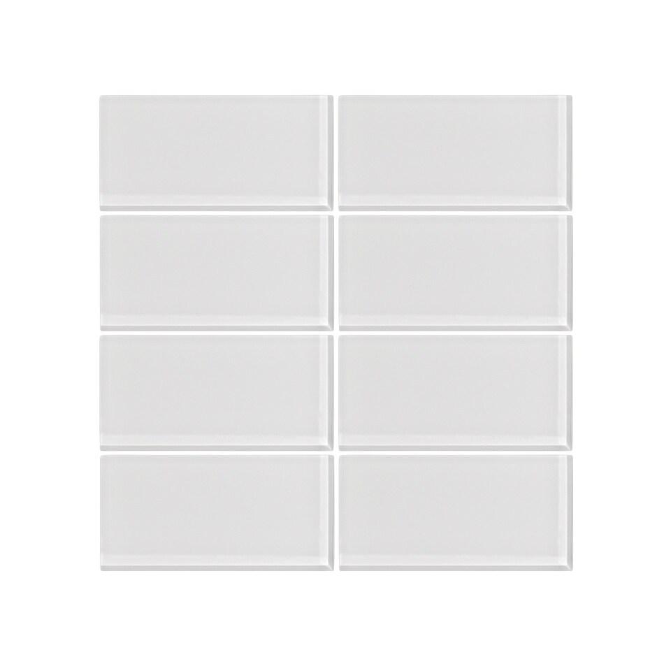 Vicci Design Ice White Gl 3 X 6 Subway Tile