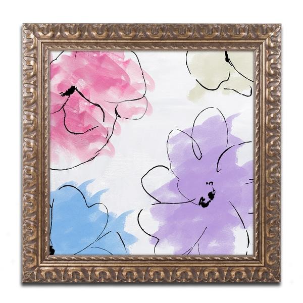 Color Bakery 'Kasumi four' Ornate Framed Art