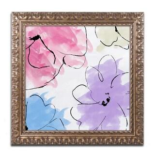 Color Bakery 'Kasumi Three' Ornate Framed Art
