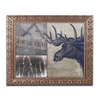Color Bakery 'Moose' Ornate Framed Art