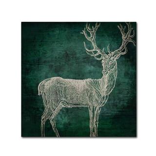 Color Bakery 'Emerald Deer' Canvas Art