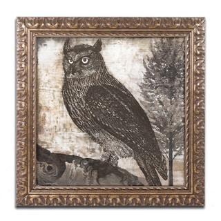 Color Bakery 'Owl 2' Ornate Framed Art