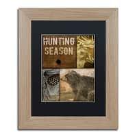 Color Bakery 'Hunting Season IV' Matted Framed Art - Brown