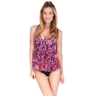 Mazu Swim Mesh Triple Tier Women's Tankini Top (4 options available)