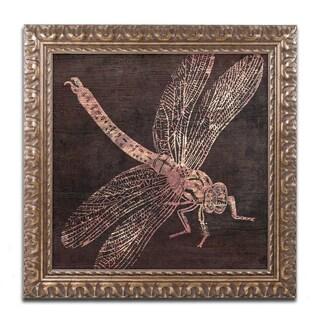 Color Bakery 'Dragonfly' Ornate Framed Art