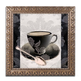 Color Bakery 'Vintage Cafe III' Ornate Framed Art