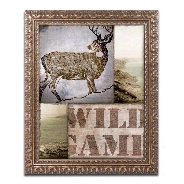Color Bakery 'Wild Game' Ornate Framed Art