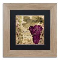 Color Bakery 'Vino Italiano I' Matted Framed Art - Brown