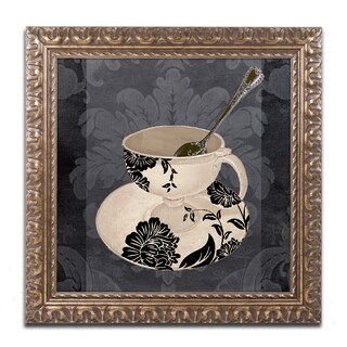 Color Bakery 'Vintage Cafe II' Ornate Framed Art