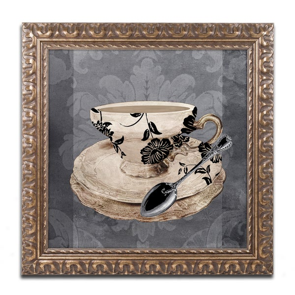 Color Bakery 'Vintage Cafe I' Ornate Framed Art