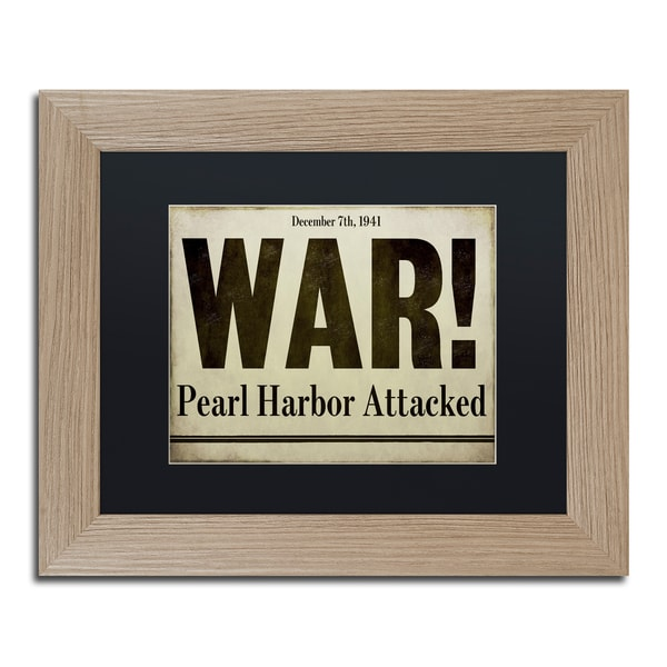 Color Bakery 'Pearl Harbor' Matted Framed Art