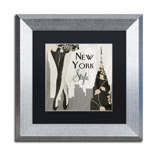 Color Bakery 'New York Style I' Matted Framed Art
