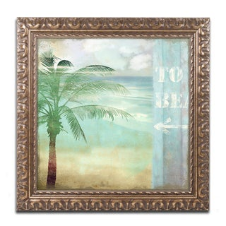 Color Bakery 'By the Sea III' Ornate Framed Art