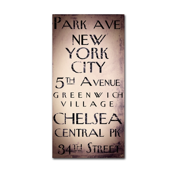 Color Bakery 'New York City I' Canvas Art - Brown