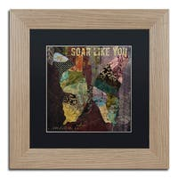 Color Bakery 'Winging It II' Matted Framed Art - Brown